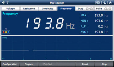 اندازه گیری فرکانس سیگنالهای سینوسی یا مربعی توسط دیاگ جی اسکن 2